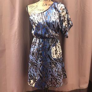 Dots Single Shoulder Spring, Summer Dress